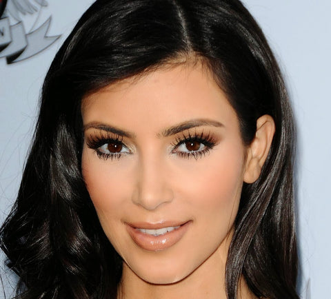 Kim Kardashian Eyes Eyelash Extensions