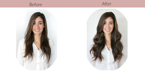 Before After Semi-Permanent Hair Extensions Starter Package