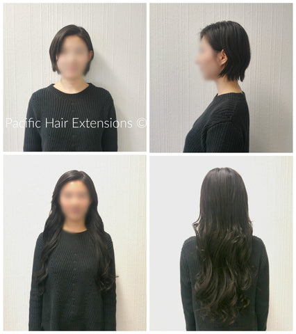 semi-permanent hair extensions for short hair vancouver