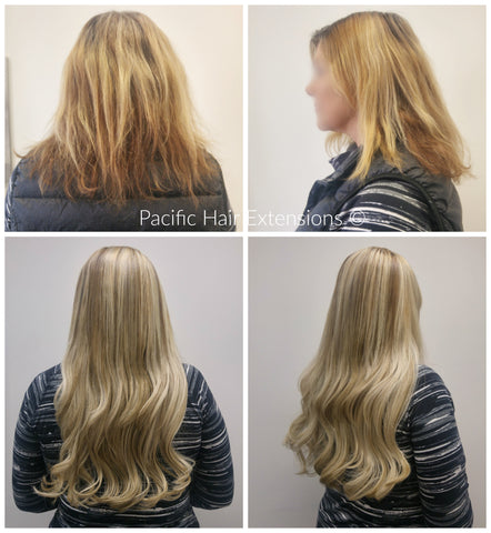 Blonde extensions for fine hair Vancouver
