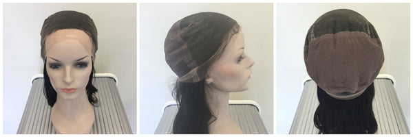 interior of a human hair lace front wig
