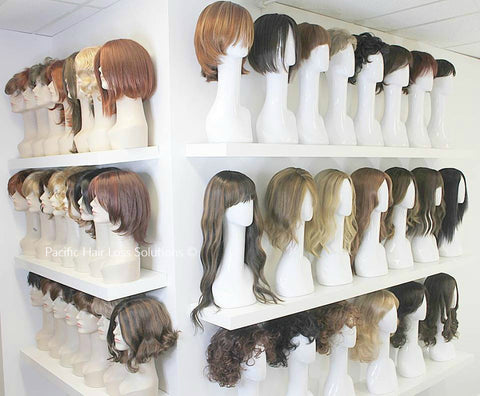 Pacific Hair Vancouver's wig wall