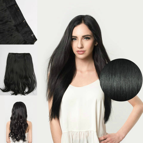 Deluxe Quad Clip-In Extensions for Fine Hair