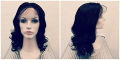 Wavy lace front remy human hair wig