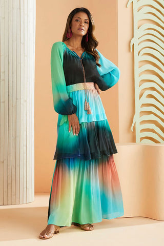 Andrea Maxi Skirt Electric Ombre