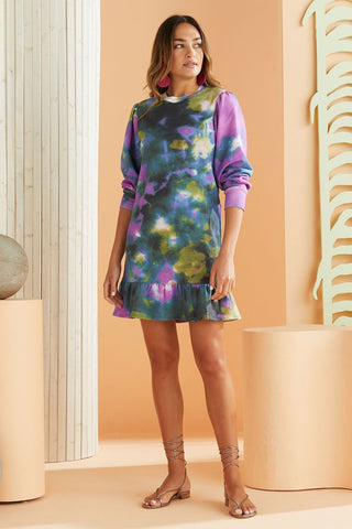 Celee Sweatshirt Dress Lagoon