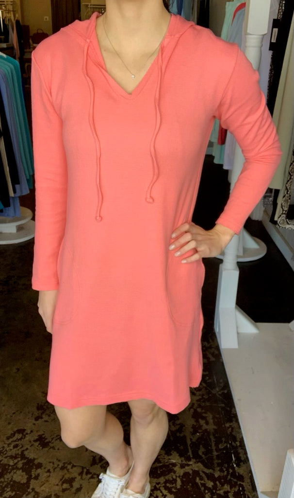Lindsey Dress Thermal Coral