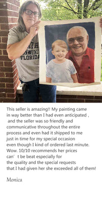 Custom Portrait painting review from Moica