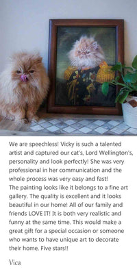 Vica-custom cat portrait painting