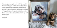 dog portrait painting review from-Meagan