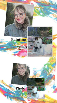 Custom Peope Portrait Paitning  Pet Portrait Painting  hand painted oil pianting on fine line