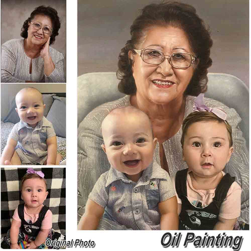 Custom Family Portrait Painting-3 People Home & Garden > Decor > Artwork > Posters, Prints, & Visual Artwork ArtToyourlife