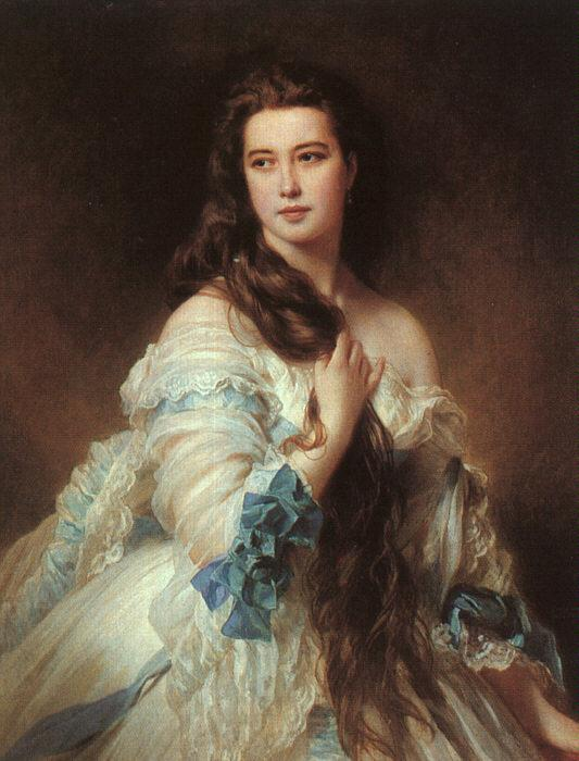 Barbe Dmitrievna Mergassov Madame Rimsky-Korsakov (1864). Artist: Franz Xaver Winterhalter Home & Garden > Decor > Artwork > Posters, Prints, & Visual Artwork ArtToyourlife