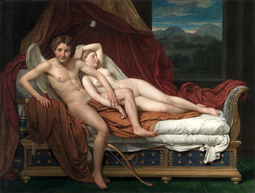 Cupid and Psyche (1817) Artist: Jacques-Louis David Home & Garden > Decor > Artwork > Posters, Prints, & Visual Artwork ArtToyourlife