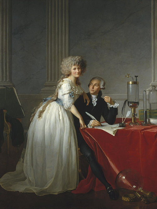 Portrait of Antoine-Laurent Lavoisier and his wife (1788) Artist: Jacques-Louis David Home & Garden > Decor > Artwork > Posters, Prints, & Visual Artwork ArtToyourlife