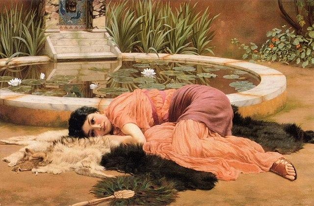 Dolce far Niente (1904) . Artist: John William Godward Home & Garden > Decor > Artwork > Posters, Prints, & Visual Artwork ArtToyourlife