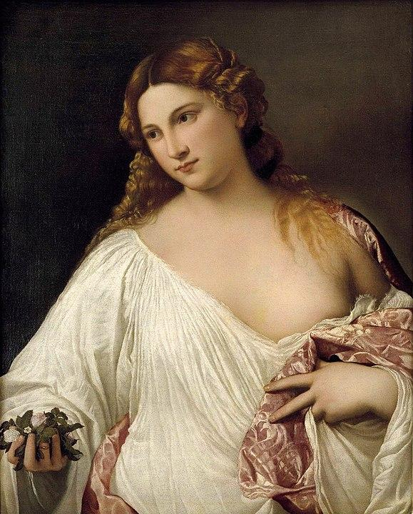 Flora (c. 1515). Artist: Tiziano Vecelli (Titian) Home & Garden > Decor > Artwork > Posters, Prints, & Visual Artwork ArtToyourlife