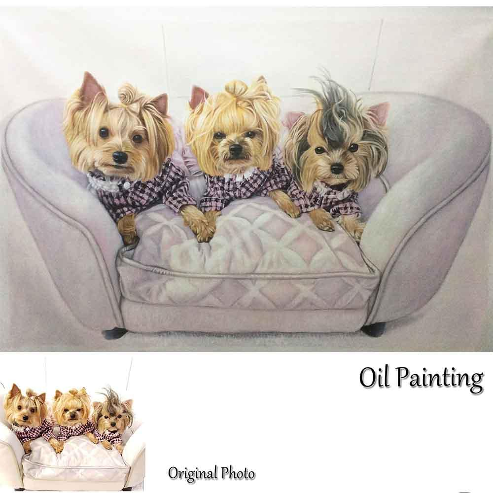 1 Pet-Custom Hand Painted Pet Portrait Oil Painting Home & Garden > Decor > Artwork > Posters, Prints, & Visual Artwork ArtToyourlife
