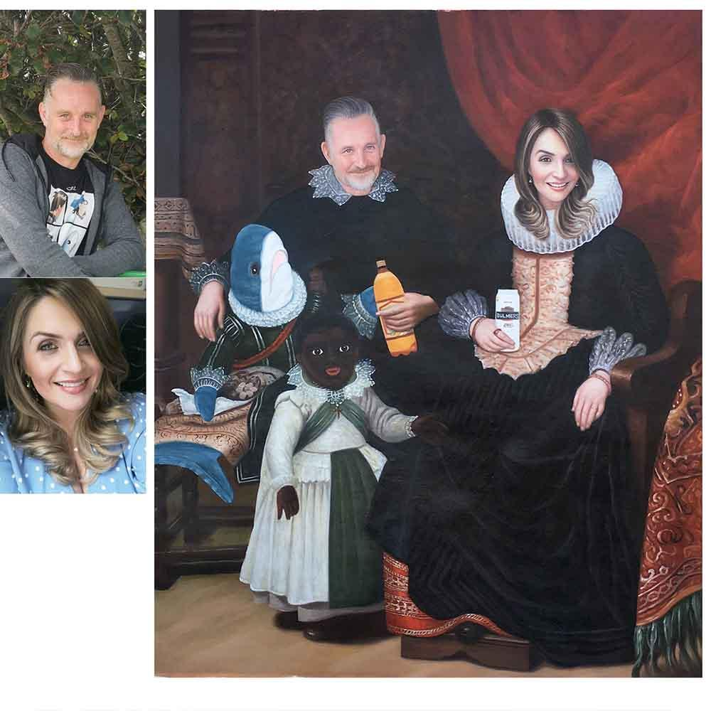 Custom Hand Painted Renaissance People Portrait Oil Painting-Funny Portraits Home & Garden > Decor > Artwork > Posters, Prints, & Visual Artwork ArtToyourlife