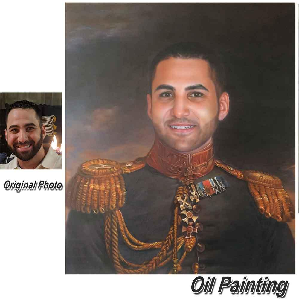 1 Person-Hand Painted Oil Portrait Home & Garden > Decor > Artwork > Posters, Prints, & Visual Artwork ArtToyourlife