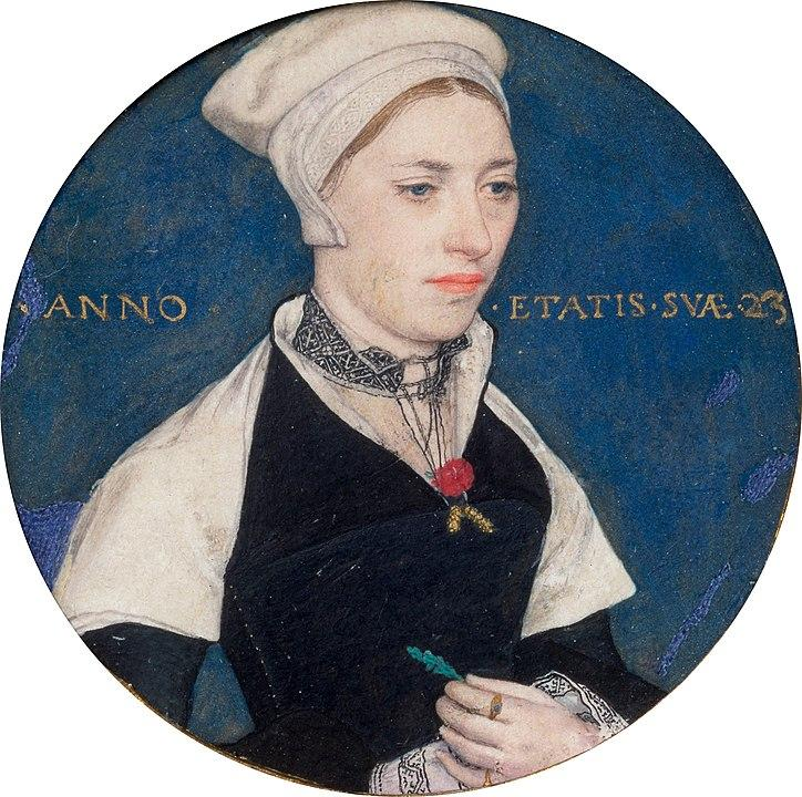 Jane Small, portrait miniature (c. 1540). Artist: Hans Holbein the Younger Home & Garden > Decor > Artwork > Posters, Prints, & Visual Artwork ArtToyourlife