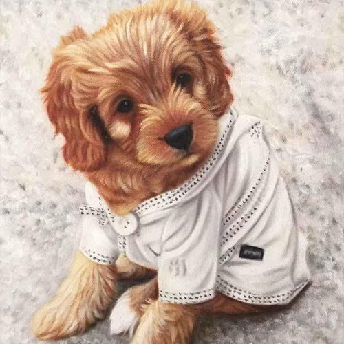 Custom Hand Painted Pet Portrait Oil Painting Home & Garden > Decor > Artwork > Posters, Prints, & Visual Artwork ArtToyourlife