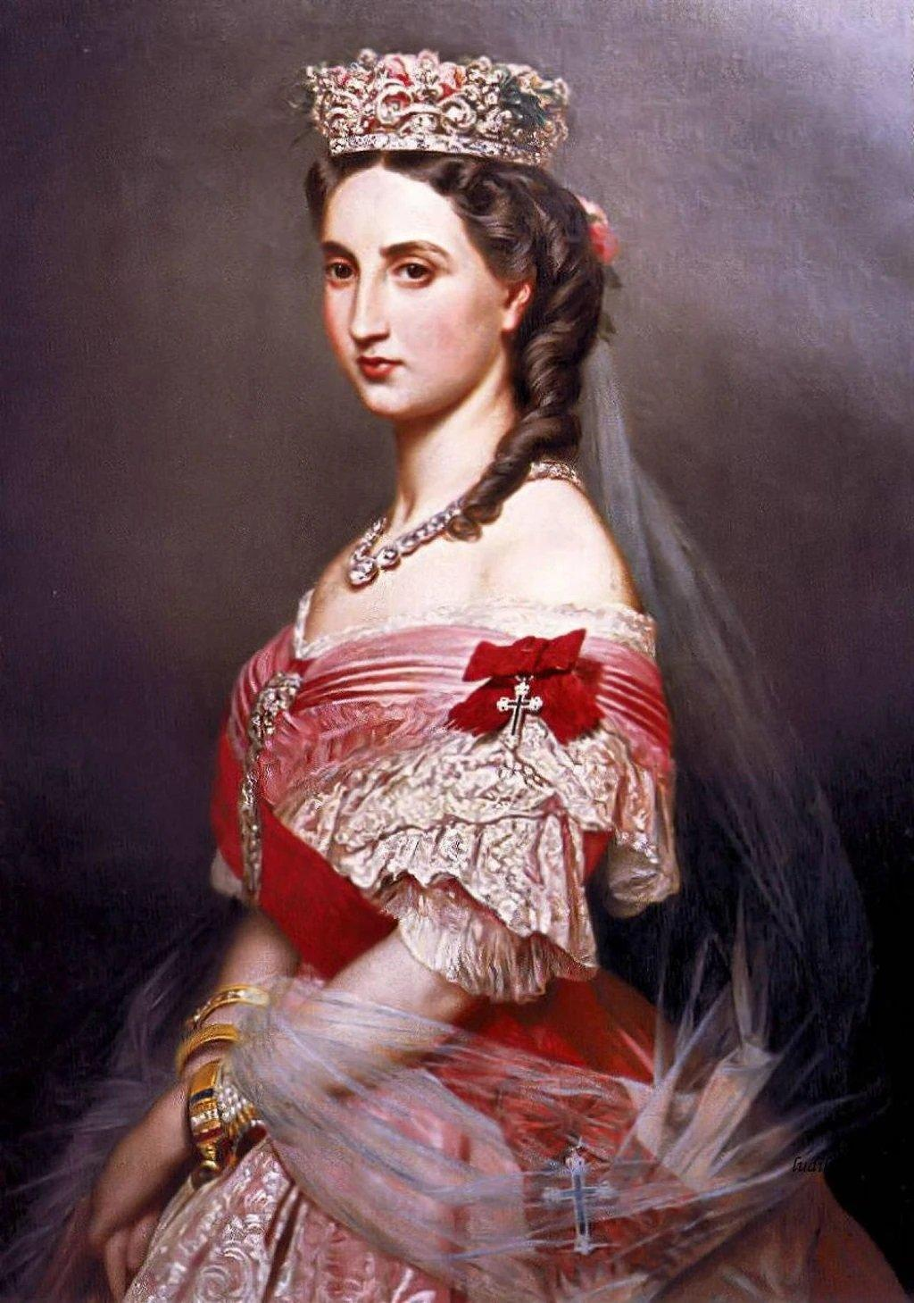 Portrait of Charlotte of Belgium (1864). Artist: Franz Xaver Winterhalter Home & Garden > Decor > Artwork > Posters, Prints, & Visual Artwork ArtToyourlife