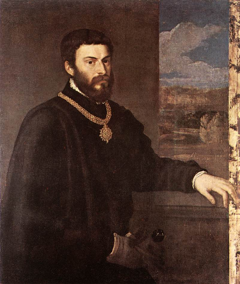 Portrait of Count Antonio Porcia (c. 1548). Artist: Tiziano Vecelli (Titian) Home & Garden > Decor > Artwork > Posters, Prints, & Visual Artwork ArtToyourlife