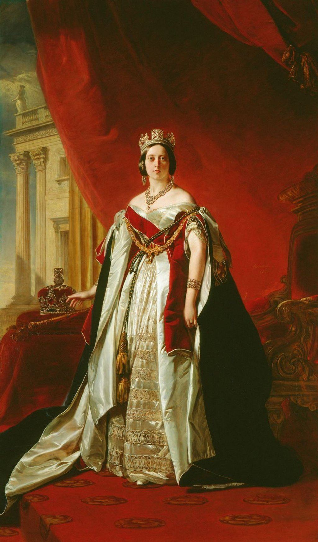 Portrait of Victoria of the United Kingdom I (c.1843). Artist: Franz Xaver Winterhalter Home & Garden > Decor > Artwork > Posters, Prints, & Visual Artwork ArtToyourlife