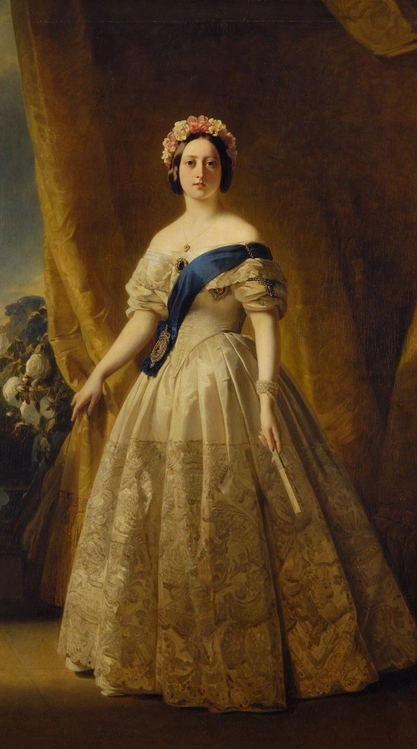 Portrait of Victoria of the United Kingdom I (c.1844). Artist: Franz Xaver Winterhalter Home & Garden > Decor > Artwork > Posters, Prints, & Visual Artwork ArtToyourlife