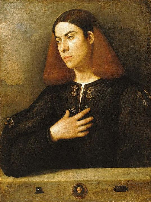 The Budapest Portrait of a Young Man (c.1508-1510). Artist: Giorgione Home & Garden > Decor > Artwork > Posters, Prints, & Visual Artwork ArtToyourlife