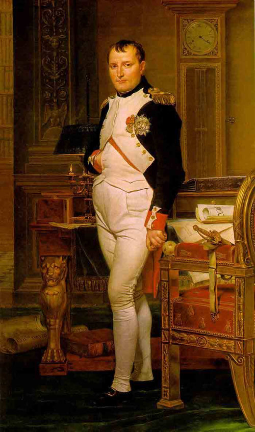 The Emperor Napoleon in His Study at the Tuileries (1812) Artist: Jacques-Louis David Home & Garden > Decor > Artwork > Posters, Prints, & Visual Artwork ArtToyourlife