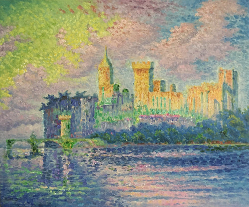 The Papal Palace Avignon. Artist: Paul Signac Home & Garden > Decor > Artwork > Posters, Prints, & Visual Artwork ArtToyourlife