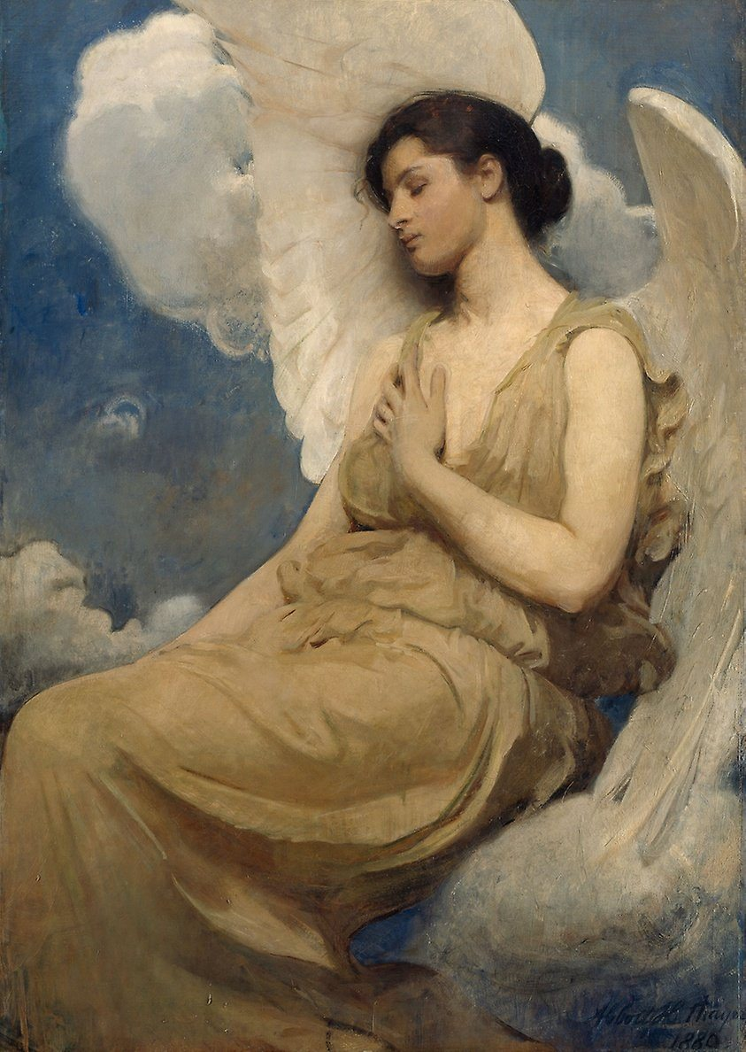 Winged Figure (1889). Artist: Abbott Handerson Thayer Home & Garden > Decor > Artwork > Posters, Prints, & Visual Artwork ArtToyourlife
