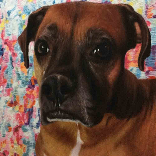 1 Dog-Custom Hand Painted Pet Portrait Oil Painting Arts & Entertainment > Hobbies & Creative Arts > Arts & Crafts > Art & Crafting Materials > Textiles > Crafting Canvas > Painting Canvas ArtToyourlife