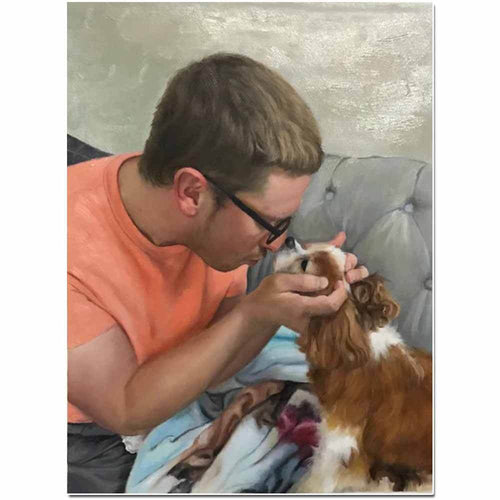 Custom People & Pets Portrait Painting Arts & Entertainment > Hobbies & Creative Arts > Arts & Crafts > Art & Crafting Materials > Textiles > Crafting Canvas > Painting Canvas ArtToyourlife