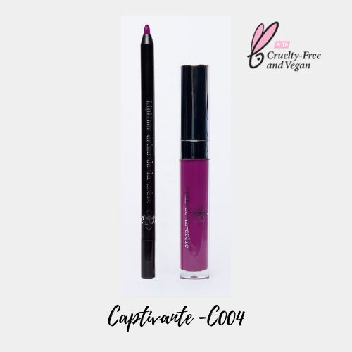 "Coffret rouge à lèvres mat ""Captivante - C004"" - PLS Cosmetics"