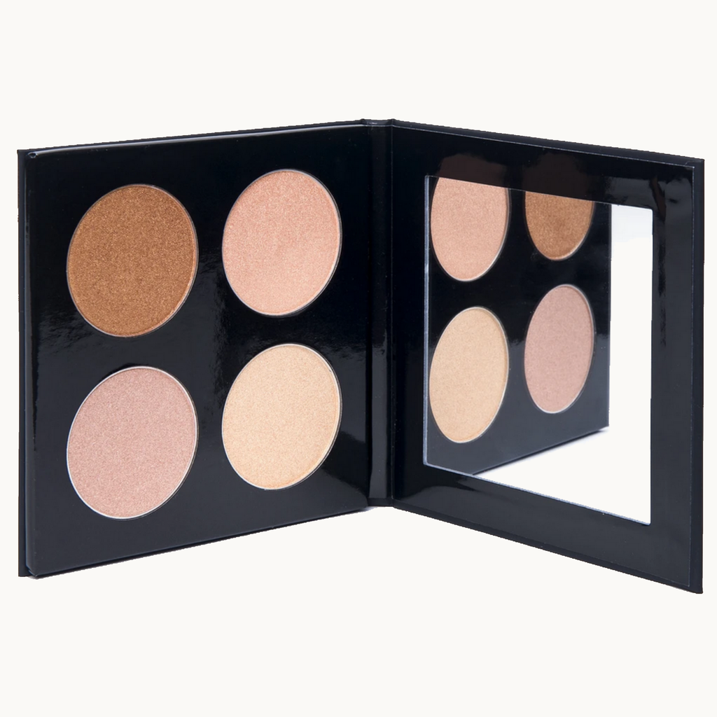 palette highlighter vegan touche de lumière pls cosmetics