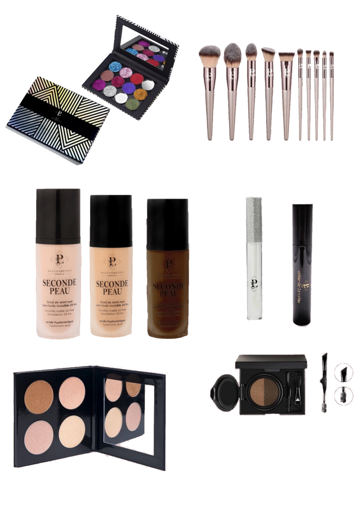 Kit maquillage Vegan maquilleurs professionnels BRONZE PLS Cosmetics