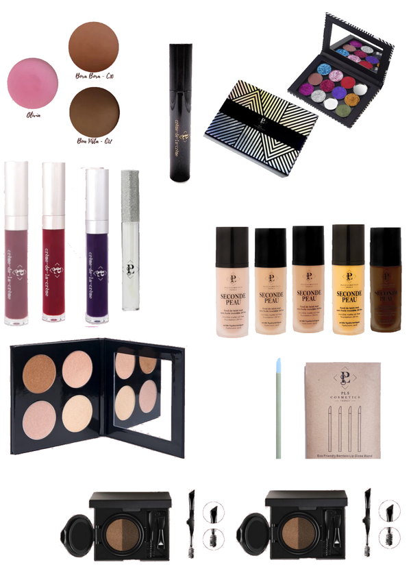 Kit maquillage Vegan maquilleurs professionnels GOLD PLS Cosmetics