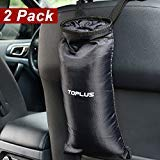 Toplus 2 PACK Car Trash Bags, Space Saving Car Garbage Can Container Washable Leakproof Eco-friendly Seatback Truck Hanging bags for Travelling, Outdoor, Home and Vehicle Use - His Perfect Gifts