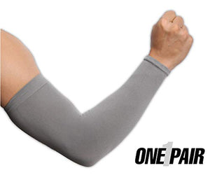 UV Protection Cooling Arm Sleeves - UPF 50 Long Sun Sleeves for Men & Women. Perfect for Cycling, Driving, Running, Basketball, Football & Outdoor Activities. (Dark Gray) - His Perfect Gifts