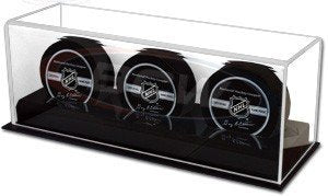 BCW 1-AD11-3 Acrylic Base Triple Puck Display - His Perfect Gifts