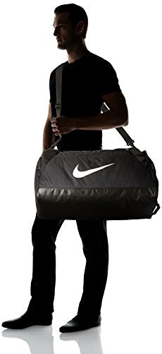 NIKE Brasilia Training Duffel Bag, Black/Black/White, Medium - His Perfect Gifts