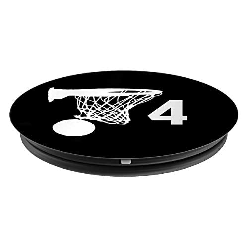 Number 4 , Basketball Gifts for Men - PopSockets Grip and Stand for Phones and Tablets - His Perfect Gifts