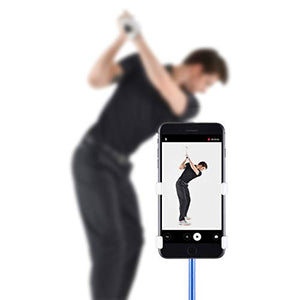 SelfieGolf Record Golf Swing - Cell Phone Clip Holder and Training Aid by TM - Golf Accessories | The Winner of The PGA Best of 2017 | Compatible with Any Smart Phone (White/Gray) - His Perfect Gifts
