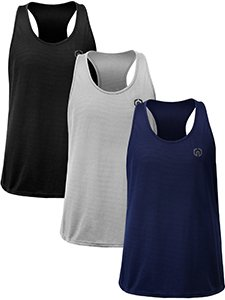 Neleus Men's 3 Pack Dry Fit Muscle Tank Workout Gym Shirt,5031,Black,Navy,Grey,M,EU L - His Perfect Gifts