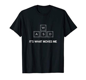 Mens WASD Funny PC Video Gamer Shirt Gaming T-Shirt Medium Black - His Perfect Gifts