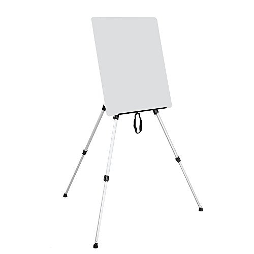 "Aluminum Folding Easel Artist Field Display Presentation Exhibition Picture Holder Adjustable 63"" Tripod Stand Lightweight with Carry Bag for Outdoor Floor Tabletop Drawing Painting Sketching - His Perfect Gifts"