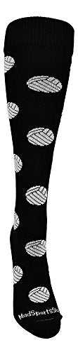 MadSportsStuff Volleyball Socks with Volleyball Print Over The Calf - His Perfect Gifts